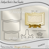 Scalloped Book & Stand Template