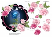 ENCHANTED ROSE TOPPER WITH DECOUPAGE SHEET 3