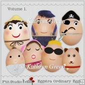 Fun Eggstra-Ordinary Eggs for Card Toppers, Scrapbook etc...