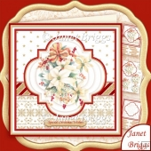 Christmas Poinsettia Bouquet 8x8 Pyramage Kit