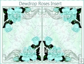 Dewdrop Roses Card Insert