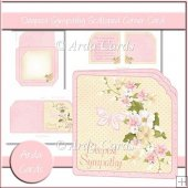 Deepest Sympathy Scalloped Corner Card