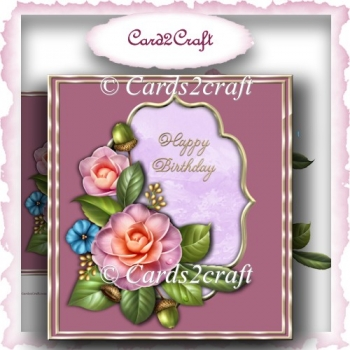 Camellia Birthday card front