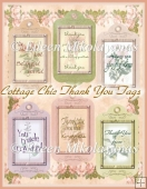 Cottage Chic THANK YOU Tag Set