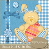 Easter Mini Scrap Kit in Blue