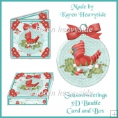 Seasontweetings 3D Bauble_Card_Box