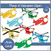 Planes & Helicopters Clipart