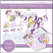 Unicorn Dreams Pop Up Box Card