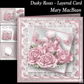 Dusky Roses Layered Card
