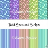 Bold Spots and Stripes Papers