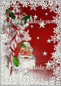 Old Fashion Santa Backing Background Paper