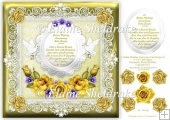 "Golden Wedding Recipe For Happiness - 8"" x 8"" Card Topper"