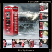 Designers Resource Winter Phone & Post Box Papers