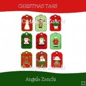 A SET OF CHRISTMAS TAGS