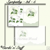 Sympathy Card Front & Decoupage Sheet - 3d - 5