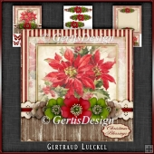 Vintage Christmas Card Kit Poinsettia 1036