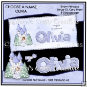 Choose a Name Snow Princess - Olivia