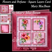 Flowers and Perfume - Square Layers Card