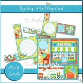 Toy Shop 4 Fold Flap Card