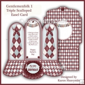 Gentelmenfolk 1 Triple Scalloped Easel Card