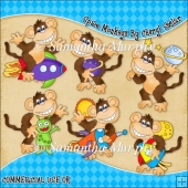 Space Monkeys ClipArt Graphic Collection