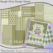 Rough Olive Design Sheets