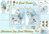 Christmas Joy Pocket Card Fronts Pack of 2