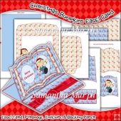Christmas Bumpkins Open Book Easel Card Download
