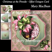 Christmas at the Fireside - Offset Octagon Card