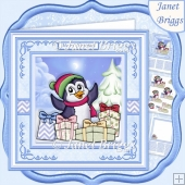 PENGUIN'S CHRISTMAS GIFTS 7.5 Decoupage & Insert Mini Kit