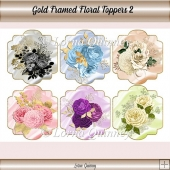 Gold Framed Floral Toppers 2