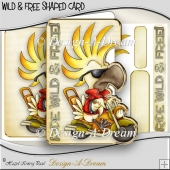 Wild & Free Shaped Over The Side Card