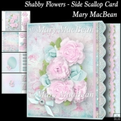 Shabby Flowers - Side Scallop Card