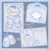 Holding A Miracle - Newborn Boy Card
