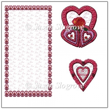 3 Hearts Valentine Easel Card