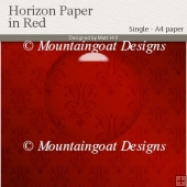 Horizon Paper in Red