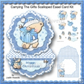 Carrying The Gifts Scalloped Easel Card Kit