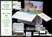 Playtime At The Dog House - Pop Up Box Card Kit & Envelope