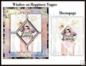 Window on Happiness Card Topper with Decoupage
