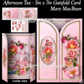 Afternoon Tea - 5in x 7in Gatefold Card