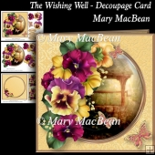 The Wishing Well - Decoupage Card