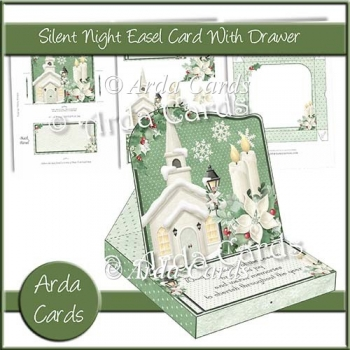 Silent Night Easel Card With Drawer