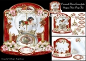 Christmas Carousel Horse Snowglobe - Shaped Mini Page Kit