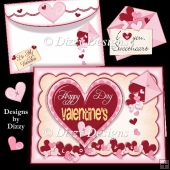 Valentine Hearts Card