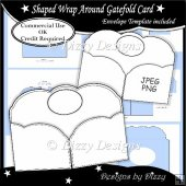 Shaped Wrap Around Gatefold Card Template