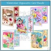 Watercolour Asymmetric Card Bundle