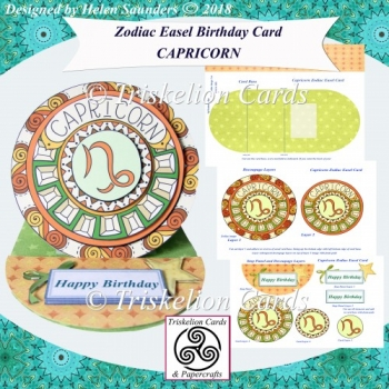 Capricorn - Zodiac Birthday Easel Card