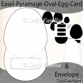 Easel Pyramage Oval Egg Shaped Card