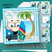 Sun Sea and Surf Birthday Mini Kit