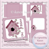 Pink Thank You Notelet Set